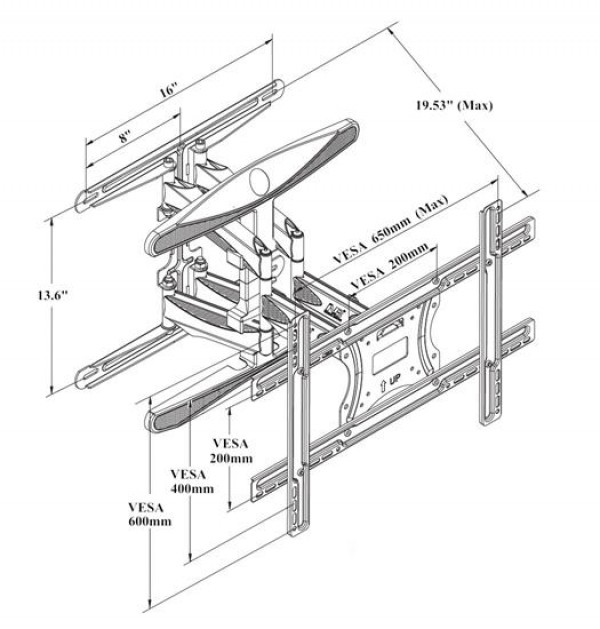 Cantilever Tv Wall Mount P6
